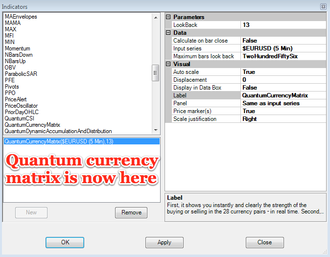 Currency matrix now here