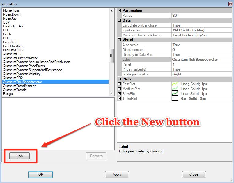 Tickspeedometer - selecting
