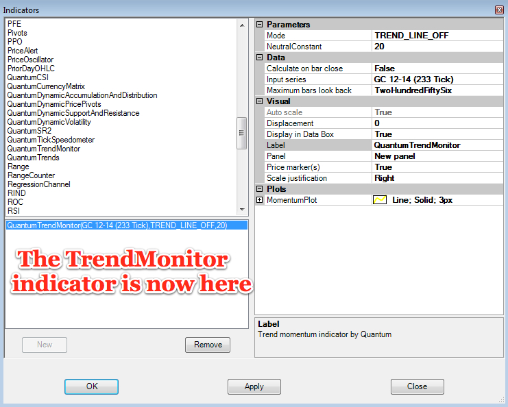Trend monitor indicator now here