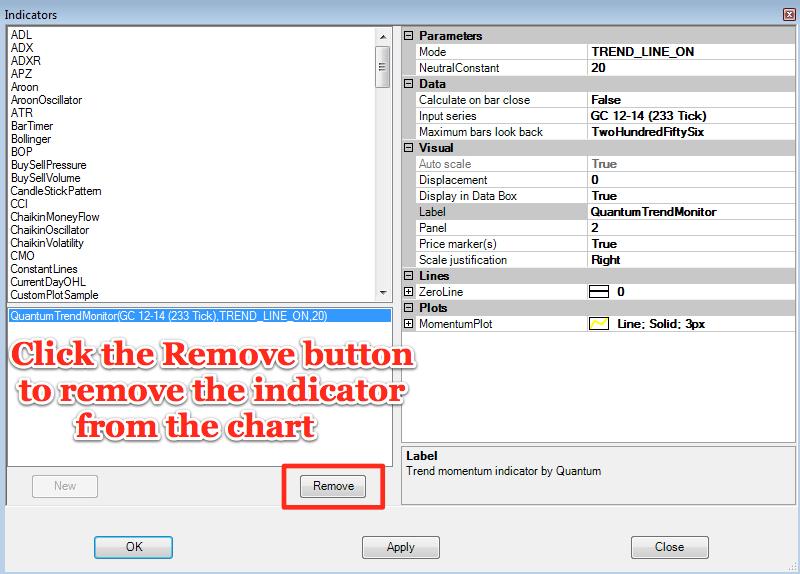 Trend monitor remove