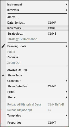 Capture - NinjaTrader 8 chart context menu