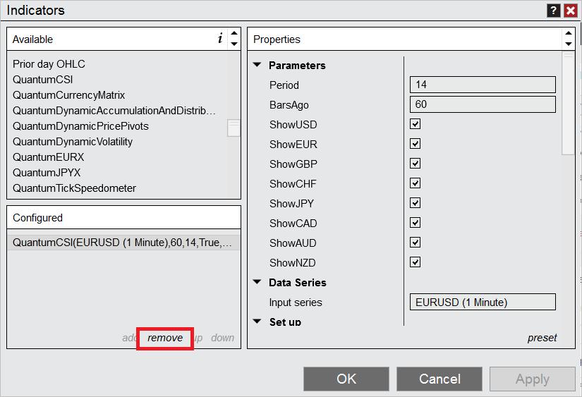 QuantumCSI for NinjaTrader 8 remove